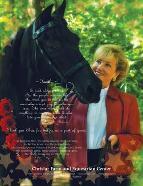 Chrislar's Morgan Horse Magazine Ad