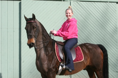 Melanie Bennett's and her new horse