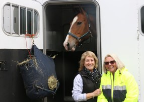Chris and new owner Kim with her new horse Holly