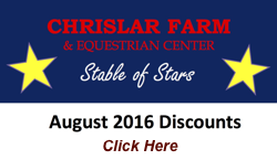 August discounts on horseback riding lessons, horse leases