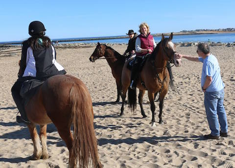 Chrislar riders enjoyed a nice Spring day riding on the beach