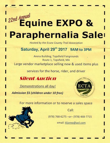 22nd Annual Exquine EXPO and Paraphernalia Sale - Hosted by Essex County Trail Association