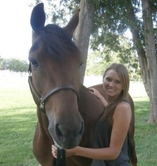riding instructor:Kristen Anderson with horse