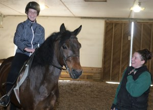 Riding instructor Nicole (Grainger) Semales